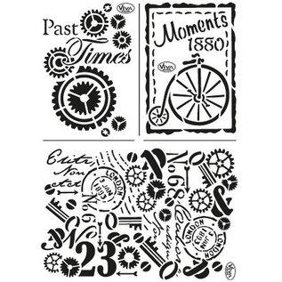 My paperworld (Viva Decor) Mask Stencil: Past Times