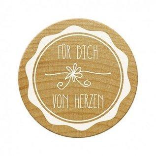 Stempel / Stamp: Holz / Wood Woodies Stempel,Für dich von Herzen