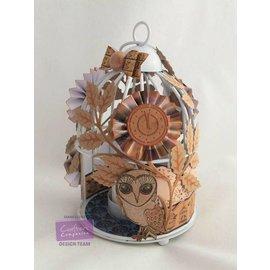 Crafter's Companion Transparant stempel set: uil, bladeren, bloemen en een klok