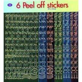 Sticker Sticker sæt: bogstaver og tal!