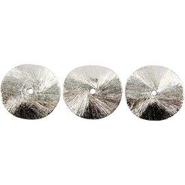 Schmuck Gestalten / Jewellery art 3 Eksklusive Hvælvet disk, størrelse 10x10x1 mm