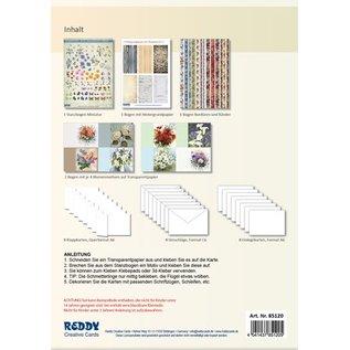 BASTELSETS / CRAFT KITS Bastelset: Spring flowers on transparent paper