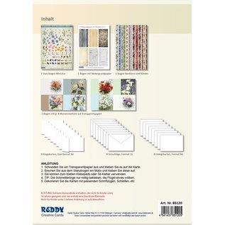 BASTELSETS / CRAFT KITS Fiori di primavera su carta trasparente: Bastelset