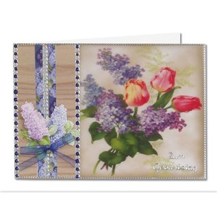 BASTELSETS / CRAFT KITS Fleurs de printemps sur papier transparent: de Bastelset