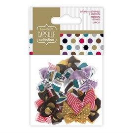 Embellishments / Verzierungen 20 loops met stippen en strepen