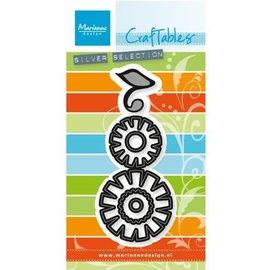 Marianne Design Estampagem e stencil embossing: Jogo da flor: Funky