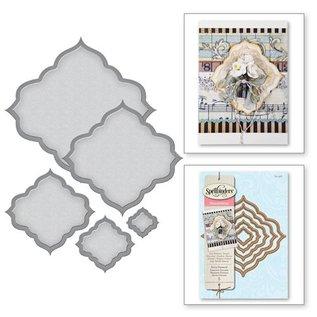 Spellbinders und Rayher Stansning og prægning skabelon: diamant dekorativ ramme