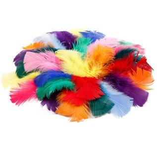 Embellishments / Verzierungen Feder in verschiedene Farbe
