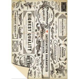 DESIGNER BLÖCKE / DESIGNER PAPER Kartenkarton Vintage Labels