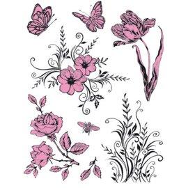 My paperworld (Viva Decor) Gennemsigtige frimærker Tema: Blomster