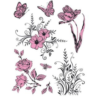 My paperworld (Viva Decor) Transparent Stempel, Thema: Blumen