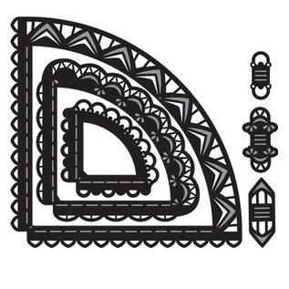 Marianne Design Stansning og prægning skabelon: Craftables Caroussel