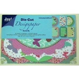 Joy!Crafts / Hobby Solutions Dies Designblock, Designpapier Die Cut, Butterfly