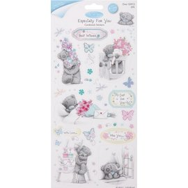 Me to You Chipboard Stickers Glitter, lot de 2, Frühlingsmotive