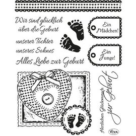 VIVA DEKOR (MY PAPERWORLD) Conjunto de sello transparente: nacimiento
