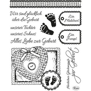 VIVA DEKOR (MY PAPERWORLD) Transparant stempel set: geboorte