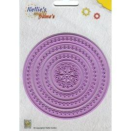 Nellie Snellen Stanz- und Prägeschablone: Multi Rahmen, rund