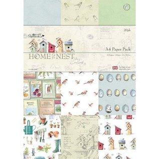 Docrafts / Papermania / Urban A4 Designer Block, Home to Nest, 160gsm