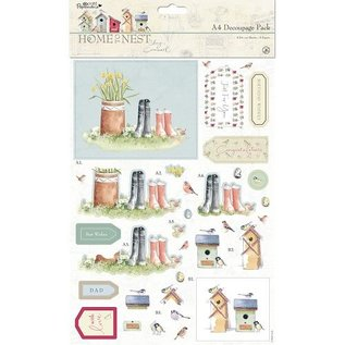 Docrafts / Papermania / Urban A4 Decoupage Set, Frühlingsmotive