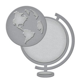 Spellbinders und Rayher Punzonatura e goffratura modello: un globo
