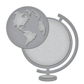 Spellbinders und Rayher Stansning og prægning skabelon: en globus
