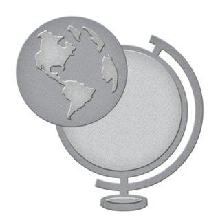 Spellbinders und Rayher Stanz- und Prägeschablone: die Weltkugel
