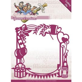 Yvonne Creations Punching and embossing template: Party frame