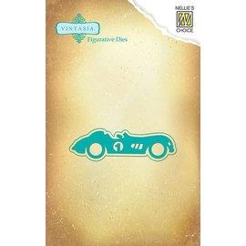 Nellie Snellen Perfuração e molde de estampagem: Carro do vintage
