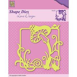 Nellie Snellen Taglio e goffratura stencil, la natura e funghi nella cornice