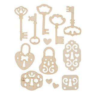Pronty Softkarton, 13er Set vintage Schlüssel