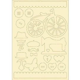 Pronty papelão macio, 22er Set vintage