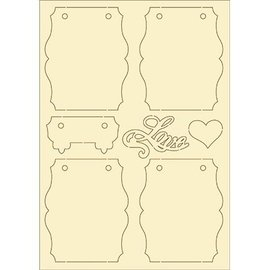 Pronty carton souple, 7 vintage set
