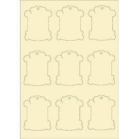 Pronty papelão macio, 9s vintage set