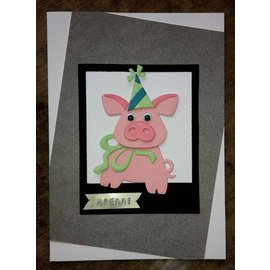 Marianne Design Punching and embossing templates: Pigs