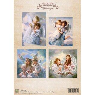 Nellie Snellen A4, Bilderbogen Vintage, Angel Venner