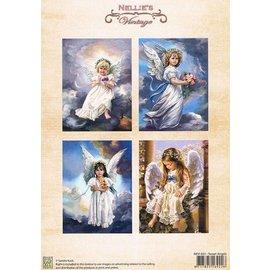 Nellie Snellen A4, Bilderbogen Vintage, Sweet angels