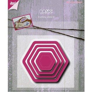 Joy!Crafts / Jeanine´s Art, Hobby Solutions Dies /  Stansning og prægning skabelon, Basic Mery sekskantede