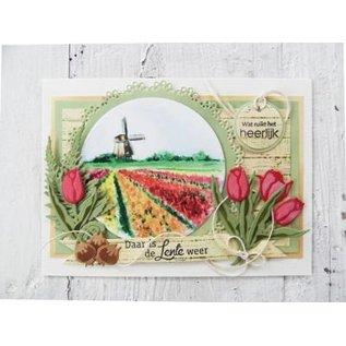 Marianne Design Poinçonnage et modèle de gaufrage, tulipe