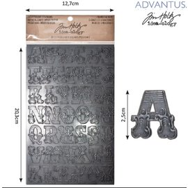 Embellishments / Verzierungen Advantus Tim Holtz industrious sticker Buchstaben