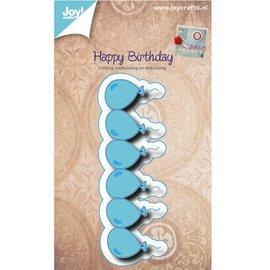 Joy!Crafts / Jeanine´s Art, Hobby Solutions Dies /  Ponsen en embossing stencil grens met ballonnen