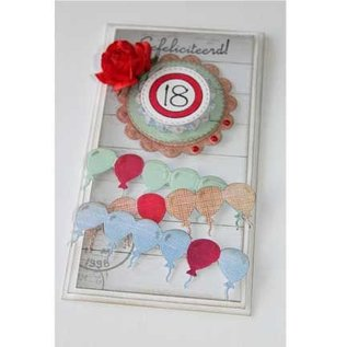 Joy!Crafts / Jeanine´s Art, Hobby Solutions Dies /  Punching and embossing stencil border with balloons