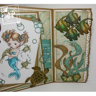 Joy!Crafts / Hobby Solutions Dies Stamping and embossing stencil, Squid, Turtle, Shark