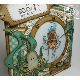 Joy!Crafts / Hobby Solutions Dies Stempling og prægning stencil, Squid, Turtle, Shark
