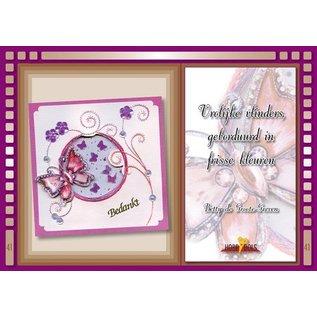 Bücher und CD / Magazines Bastelbuch Thème: Papillons avec Stickvorlage