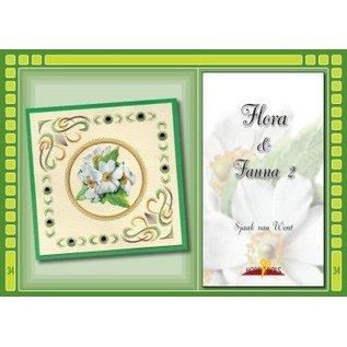 Bücher und CD / Magazines Bastelbuch Thema: Flora en Fauna mit Stickvorlage