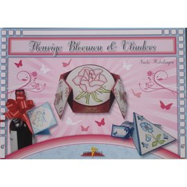 Bücher und CD / Magazines Bastelbuch Thema: Schmetterlinge und Blumen mit Stickvorlage