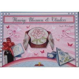 Bücher und CD / Magazines Tema Bastelbuch: Borboletas e flores com Stickvorlage