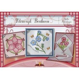 Bücher und CD / Magazines Bastelbuch tema: flores con Stickvorlage