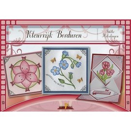 Bücher und CD / Magazines Bastelbuch thema: bloemen met Stickvorlage