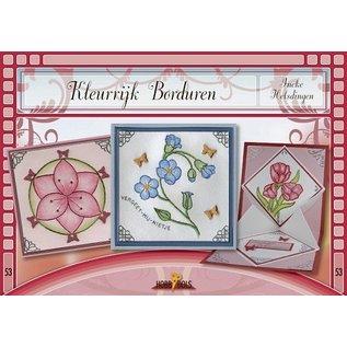 Bücher und CD / Magazines Bastelbuch thème: fleurs avec Stickvorlage